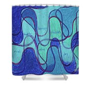Beachy Two Shower Curtain