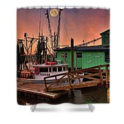 Beacon 1 Seafood Shower Curtain