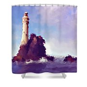 Beacon On The Rock Shower Curtain