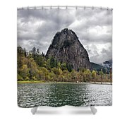 Beacon Rock At Columbia River Gorge Shower Curtain