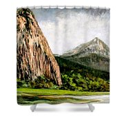 Beacon Rock Washington Shower Curtain