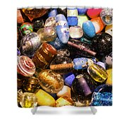 Bead Pile Shower Curtain