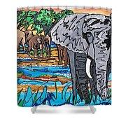 Beaded Elephant Shower Curtain