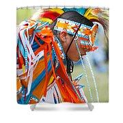 Beaded Pow Wow Dancer Shower Curtain