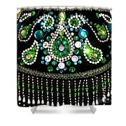 Beadwork And Rhinestones. Belly Dance Fashion Shower Curtain