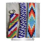 Beadwork Shower Curtain by Tracy Hall