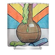 Beaker Shower Curtain