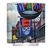 Beale Street Neon Shower Curtain