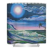 Bealtaine Moon Shower Curtain