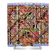 Beams Abstract Art Shower Curtain