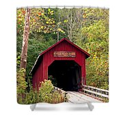 Bean Blossom Bridge II Shower Curtain