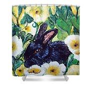 Bean The Magical Rabbit -pet Portrait Shower Curtain
