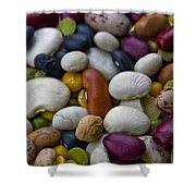 Beans Of Many Colors Shower Curtain