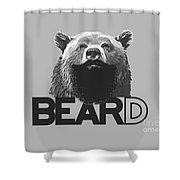 Bear And Beard Shower Curtain