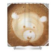 Bear Cup Latte  Shower Curtain