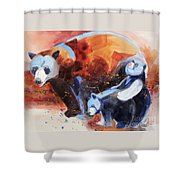 Bear Family Outing Shower Curtain