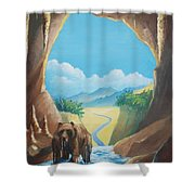 Bear Going Home Shower Curtain
