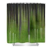 Bear Grass And Lodgepoles Shower Curtain