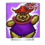 Bear In Red Hat Shower Curtain