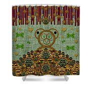 Bear In The Blueberry Wood Shower Curtain
