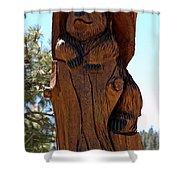 Bear In Wood Shower Curtain