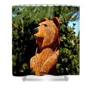 Bear In Woods Shower Curtain