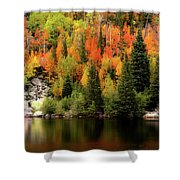 Bear Lake Autumn Shower Curtain