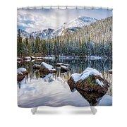 Bear Lake Holiday Shower Curtain
