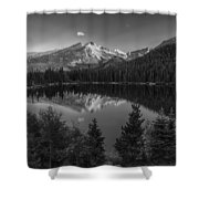 Bear Lake In Black And White Shower Curtain