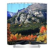 Bear Lake Road In Autumn Shower Curtain
