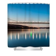 Bear Mountain Bridge At Dusk. Shower Curtain