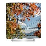 Bear Mountain Bridge Fall Color Shower Curtain