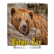Bear Nature Boy Shower Curtain