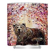 Bear With A Heart Of Gold Shower Curtain