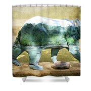 Bear On The Little Tennessee River Shower Curtain