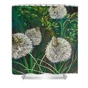Bear Paw Grass Shower Curtain