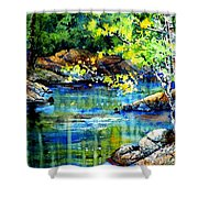 Bear Paw Stream Shower Curtain
