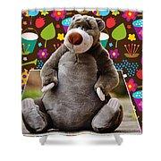 Bear Playtime Shower Curtain