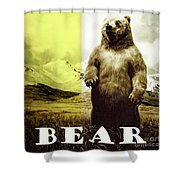 Brown Grizzly Bear Shower Curtain