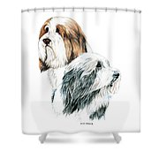 Bearded Collies Shower Curtain