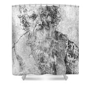 Bearded Man Shower Curtain