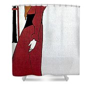 Beardsley: Poster Design Shower Curtain