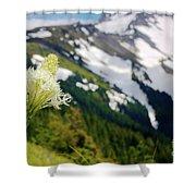 Beargrass Flower On The Slopes Of Mt. Hood Shower Curtain