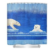 Bears In Global Warming Shower Curtain