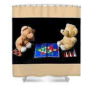Bears Playing Halma Shower Curtain