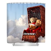 Bears Winter Holidays Shower Curtain