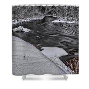 Bearskin Creek Riffles Shower Curtain