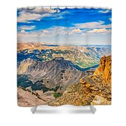 Beartooth Highway Scenic View Shower Curtain