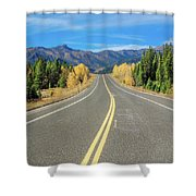 Beartooth Mountain Road Shower Curtain
