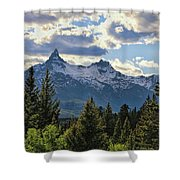 Beartooth Mountains In Spring Shower Curtain